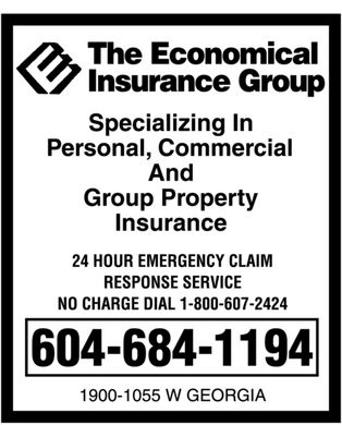 The Economical Insurance Group (604-684-1194) - Display Ad