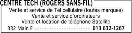 Centre de Communication Tech / Rogers Sans-Fil (613-632-1267) - Annonce illustrée======= - Vente et service de Tél cellulaire (toutes marques) Vente et service d'ordinateurs Vente et location de téléphone Satellite
