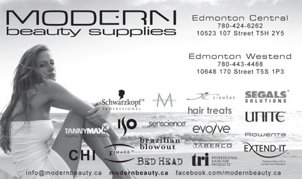 Modern Beauty Supplies Inc (780-424-6262) - Annonce illustrée