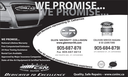 Glen-Merritt Collision Ltd (905-687-8711) - Display Ad