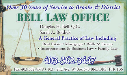 Bell Law Office (403-362-3447) - Annonce illustrée