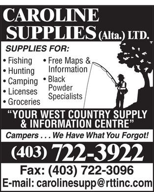 Caroline Supplies (Alta) Ltd (403-722-3922) - Display Ad