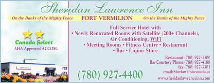 Sheridan Lawrence Inn (780-927-4400) - Display Ad