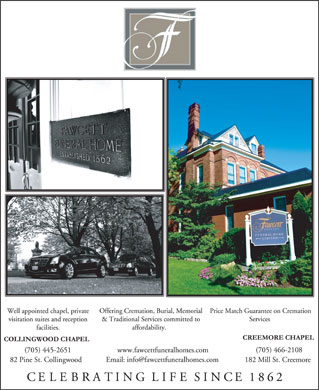 Fawcett Funeral Home (705-445-2651) - Display Ad