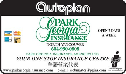 Park Georgia Insurance Agencies Ltd (604-990-0808) - Annonce illustrée