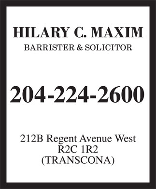 Maxim Hilary C (204-224-2600) - Display Ad