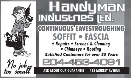 Handyman Industries Ltd (204-453-4091) - Display Ad