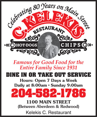Kelekis C Restaurant (204-582-1786) - Display Ad