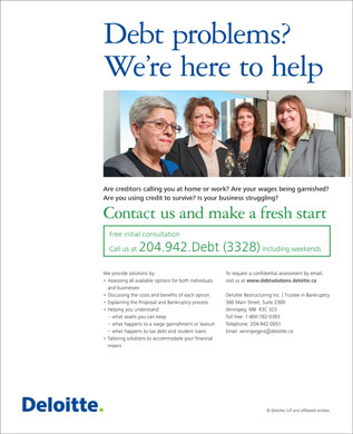 Deloitte & Touche Inc Trustee In Bankruptcy (204-942-3328) - Display Ad