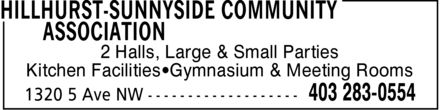 Hillhurst-Sunnyside Community Association (403-283-0554) - Annonce illustrée - 2 Halls, Large & Small Parties Kitchen Facilities Gymnasium & Meeting Rooms  2 Halls, Large & Small Parties Kitchen Facilities Gymnasium & Meeting Rooms