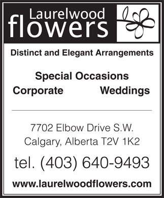 Laurelwood Flowers (403-640-9493) - Display Ad