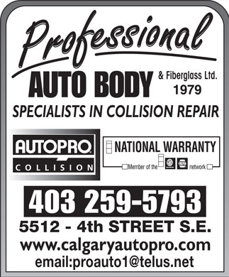 Professional Autobody & Fiberglass Ltd 1979 (403-259-5793) - Display Ad - & Fiberglass Ltd. 403 259-5793 email:proauto1@telus.net & Fiberglass Ltd. 403 259-5793 email:proauto1@telus.net  & Fiberglass Ltd. 403 259-5793 email:proauto1@telus.net  & Fiberglass Ltd. 403 259-5793 email:proauto1@telus.net & Fiberglass Ltd. 403 259-5793 email:proauto1@telus.net  & Fiberglass Ltd. 403 259-5793 email:proauto1@telus.net
