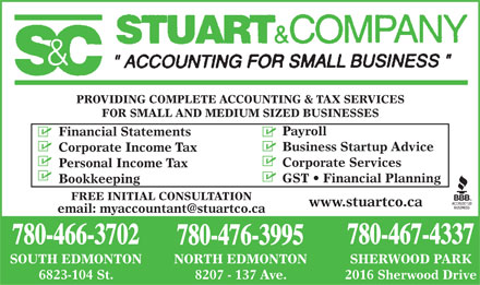 Stuart & Company (780-476-3995) - Display Ad