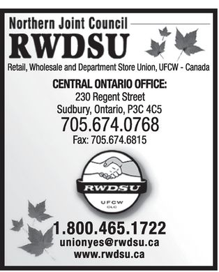 Retail Wholesale And Department Store Union (705-674-0768) - Display Ad