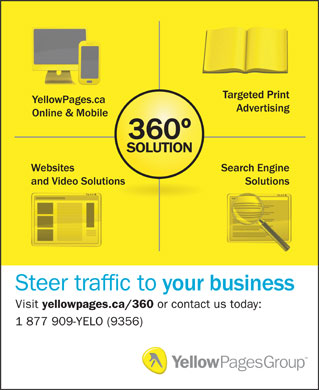 Yellow Pages Group (1-877-909-9356) - Display Ad