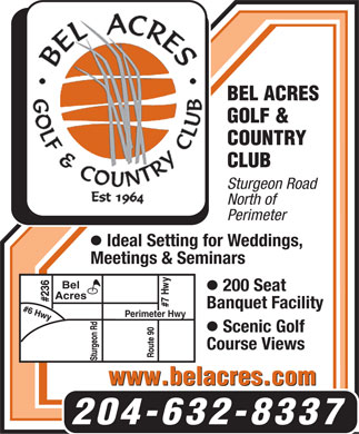 Bel Acres Golf &amp; Country Club (204-632-8337) - Display Ad