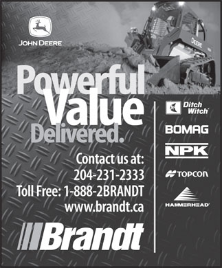 Brandt Tractor Ltd (204-231-2333) - Display Ad