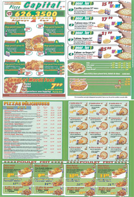Pizza Capital (514-626-3500) - Menu