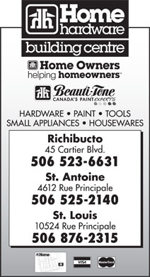 Home Hardware Building Centre (506-523-6631) - Display Ad