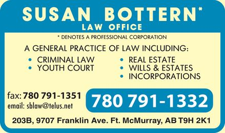 Bottern Susan Law Office (780-791-1332) - Display Ad