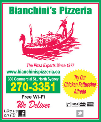 Bianchini's Pizzeria (902-794-3191) - Display Ad