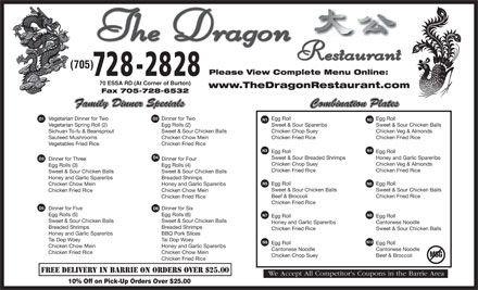 Chinese Food Restaurant Essa Road Barrie