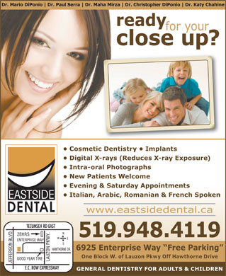 Eastside Dental Office (519-948-4119) - Annonce illustrée