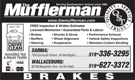 The Mufflerman (519-336-3295) - Display Ad