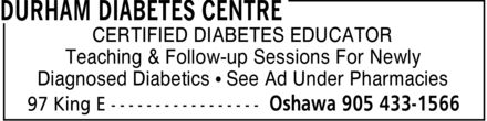 Pharmachoice Saver's Drug Mart (905-433-1566) - Display Ad - CERTIFIED DIABETES EDUCATOR Teaching & Follow-up Sessions For Newly Diagnosed Diabetics ¿ See Ad Under Pharmacies
