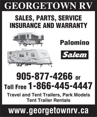 Georgetown RV (1-866-445-4447) - Display Ad
