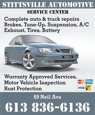 Stittsville Automotive Service Centre 69 Neil Ave Stittsville On