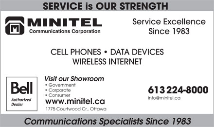 Minitel Communications Corporation (613-699-2319) - Display Ad