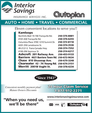 Interior Savings Insurance Services (250-314-6217) - Display Ad