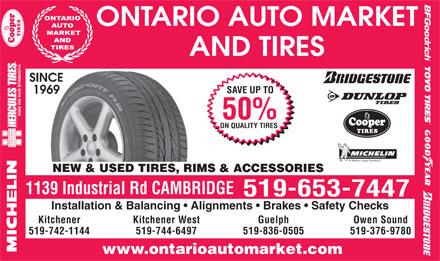 Ontario-Auto-Market-Tires in Cambridge | YellowPages.ca™