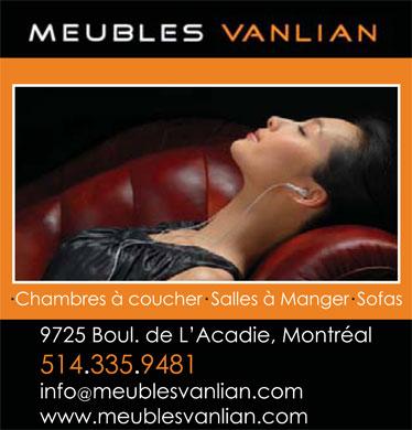 meubles vanlian 9725 boul de l 39 acadie montr al qc