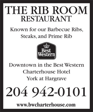 The Rib Room (204-942-0101) - Annonce illustrée