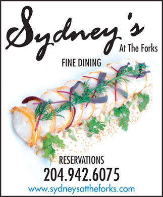 Sydney's at The Forks (204-942-6075) - Display Ad