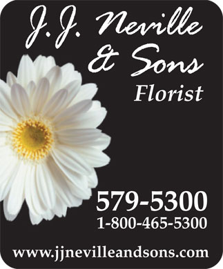 Neville J J &amp; Sons Ltd (709-579-5300) - Display Ad