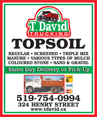 David T Trucking (519-754-0994) - Display Ad