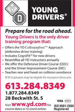 Young Drivers Of Canada (613-284-8349) - Annonce illustrée