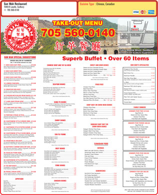 Sun wah restaurant tavern 1540b lasalle blvd sudbury on for Asian cuisine sudbury