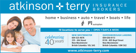 Atkinson &amp; Terry Insurance Brokers (604-549-0200) - Display Ad