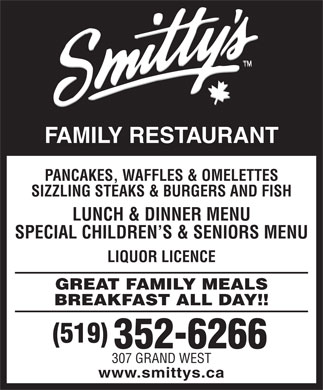 Smitty's Family Restaurant (519-352-6266) - Annonce illustrée
