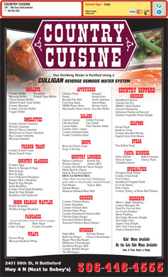 Country Cuisine (306-446-4555) - Menu