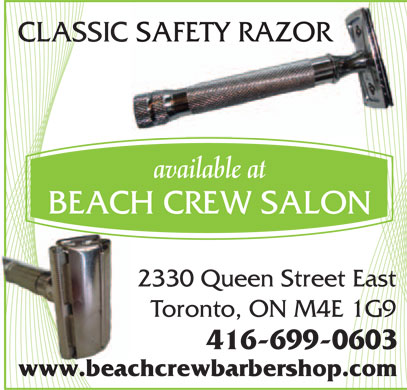 Beach Crew Salon (416-699-0603) - Annonce illustr&eacute;e