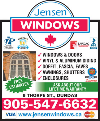 Jensen Windows (905-547-6632) - Annonce illustrée