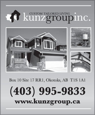 Kunz Group Inc The (403-995-9833) - Display Ad