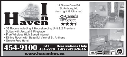 Haven Inn (709-454-9100) - Display Ad