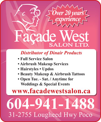Facade West Salon Ltd (604-941-1488) - Annonce illustrée
