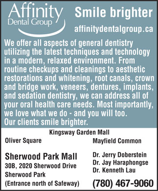 Affinity Dental Group-Sherwood Park (780-467-9060) - Annonce illustrée